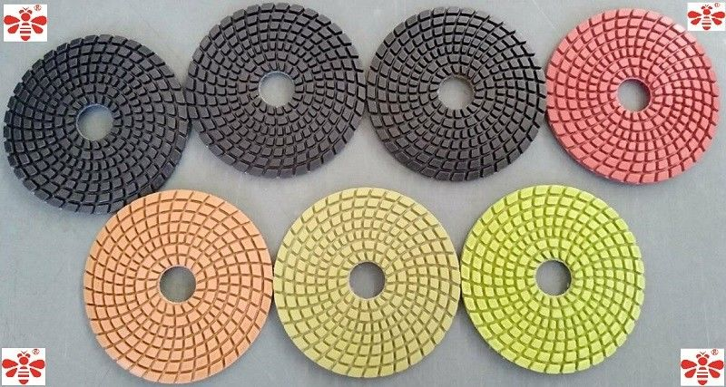 80mm100mm 125mm Wet Diamond Floor Polishing Pads   Multi Color Economical
