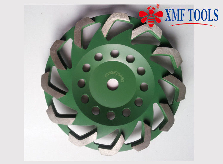 Fan Cup Turbo 7 Inch Concrete Masonry Grinding Wheel 115mm Green Color