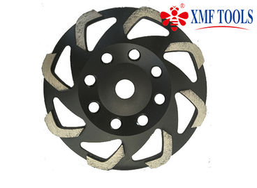 105mm Fan 5 cali 7 cali Diamond Cup Wheel, Black Diamond Concrete Grinding Cup